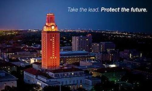 Orange UT Austin Tower